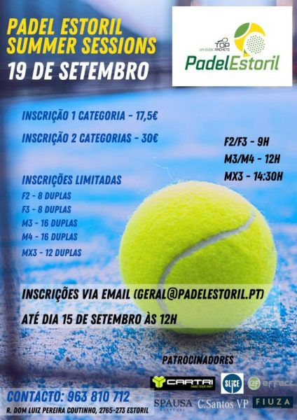 Padel Estoril Summer Sessions